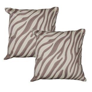 Admirable Zebra Throw Pillow Set Of 2 Uwap Interior Chair Design Uwaporg