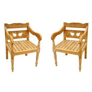 One Allium Way Proulx Teak Patio chair (S..