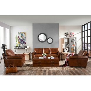 Reaves 3 Piece Leather Sofa Set By Williston Forge