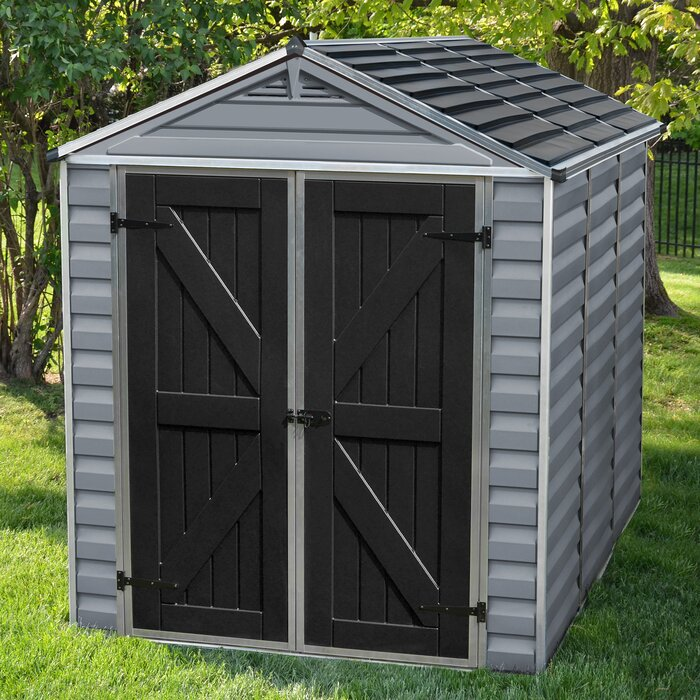 sheds white shed outsunny yard w storage foundation grey outdoor floor metal house patio garden tool living