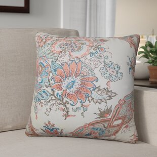 Shilpa Floral Linen Throw Pillow (Set of 2)