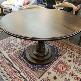 Rosa Solid Wood Dining Table Bungalow Rose