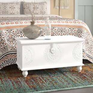 Roswell Hand Carved Medallion Coffee Table Trunk By Bungalow Rose