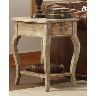 Alaterre Simplicity End Table With Storage
