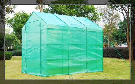 Outsunny 6 Ft. W x 8 Ft. D Greenhouse & Outsunny Outsunny 6 Ft. W x 8 Ft. D Greenhouse u0026 Reviews | Wayfair