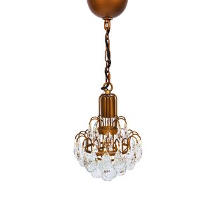 Bloom 1-Light Crystal Pendant by Manor Luxe