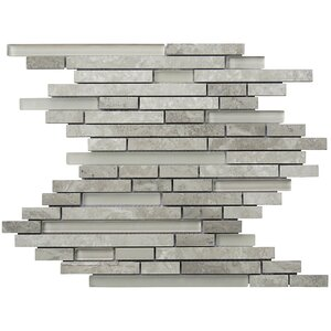 Eternity Random Sized Natural Stone Mosaic Tile in Gray