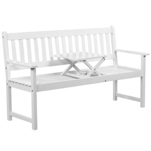 Refugio Wooden Bench By Sol 72 Outdoor
