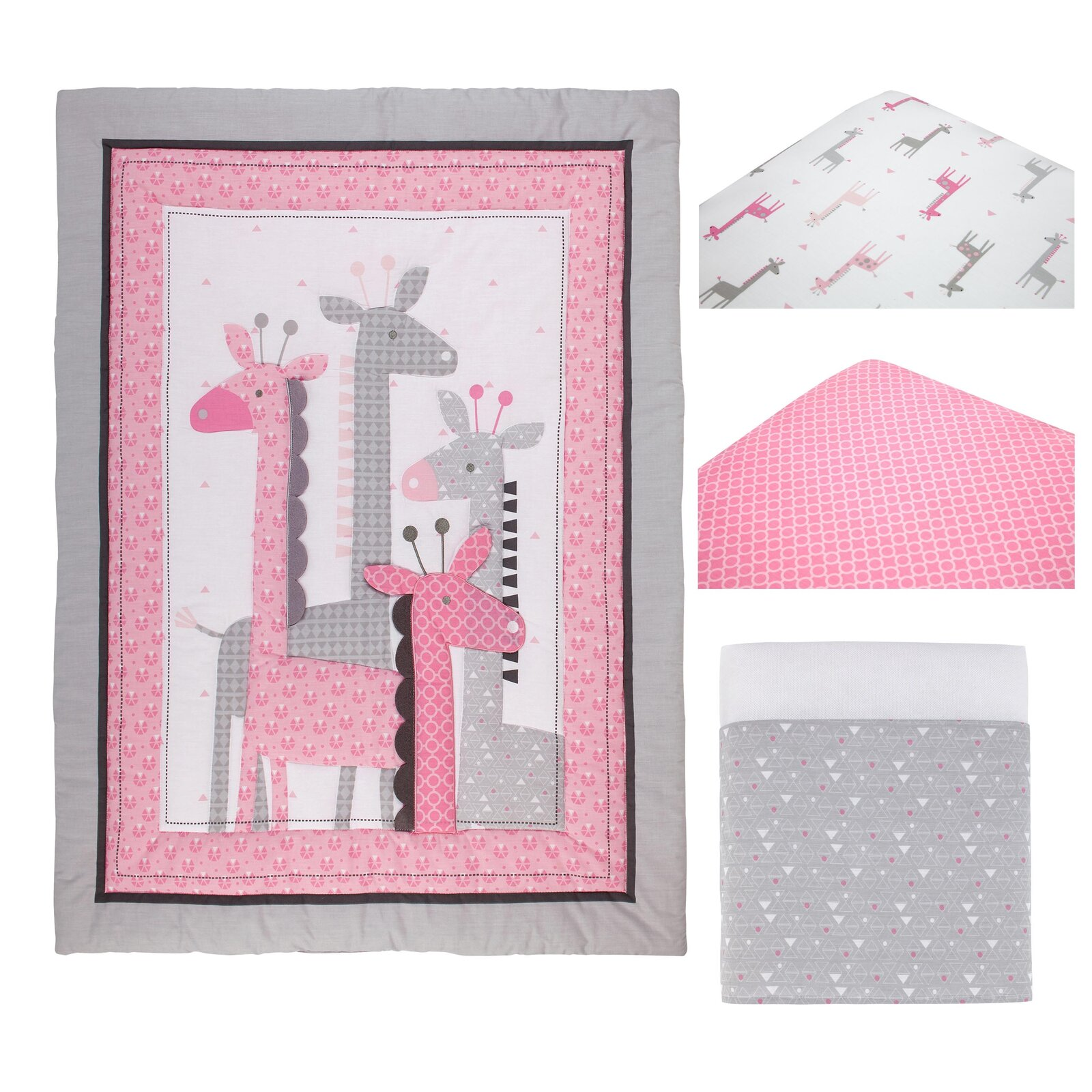 Stepan Giraffe Infant 4 Piece Crib Bedding Set