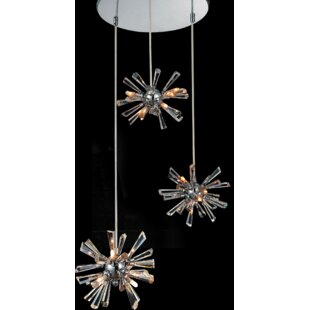 Flair 12-Light Cluster Pendant by CWI Lighting