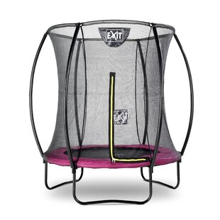 Silhouette Backyard Above Ground Trampoline With Safety Enclosure By Exit Toys