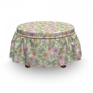 Cottage Garden Art Ottoman Slipcover (Set Of 2) By East Urban Home