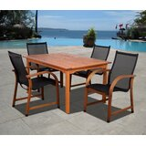 Trosclair International Home Outdoor 5 Piece Dining Set