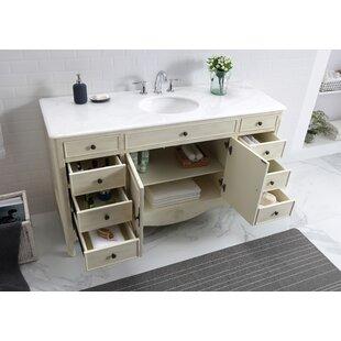 Genevieve 60 Single Bathroom Vanity Set by One Allium Way