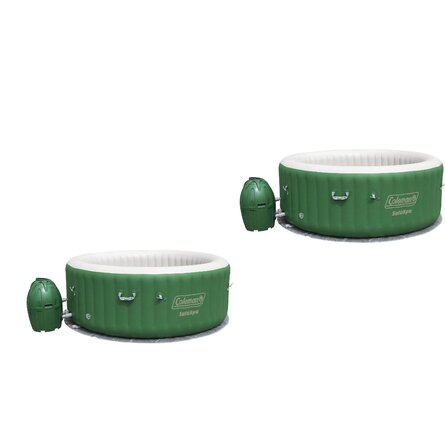 Bestway 6 - Person 60 - Jet Round Inflatable Hot Tub in Green