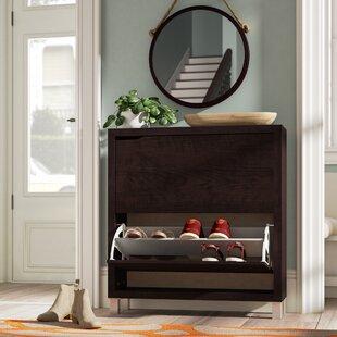 Big Save 12 Pair Espresso Shoe Storage Cabinet By Rebrilliant