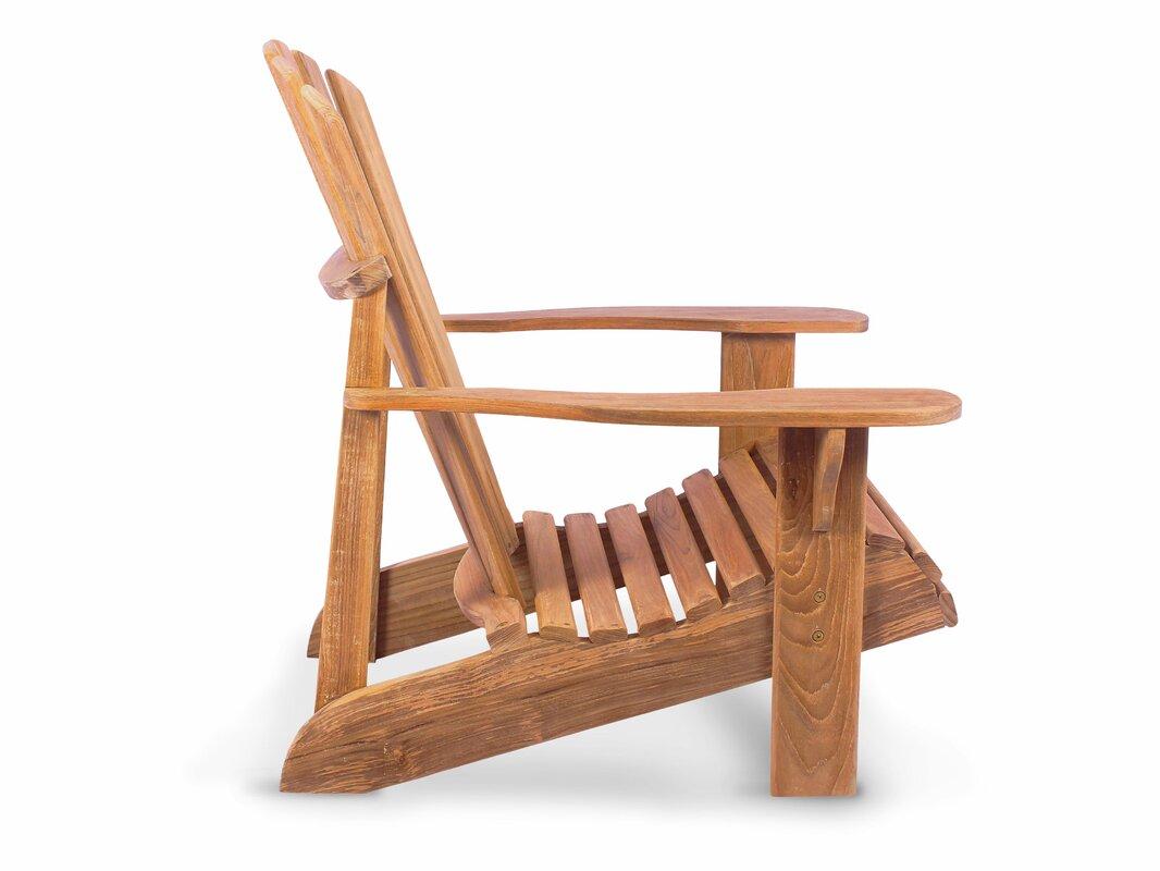 Delightful Montauk Solid Wood Adirondack Chair