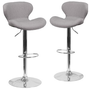 Adjustable Height Swivel Bar Stool  Set of 2 Fabric Bar Stools You ll Love   Wayfair. Fabric Covered Counter Height Chairs. Home Design Ideas
