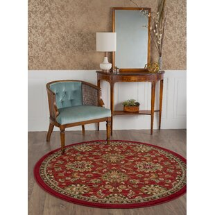 Grange Red Area Rug by Three Posts
