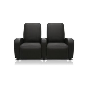 Milan Leather Home Theater Lounger Row of 2