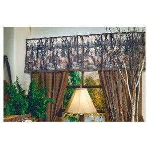 Whitetail Dreams Curtain Window Valance