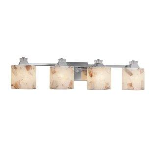 Justice Design Group Alabaster Rocks™ Ardent 4-Light Bath Bar