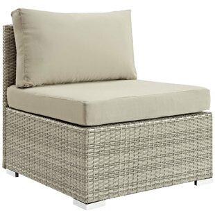 Heiner Fabric Armless Patio Chair with  Sunbrella Cushion