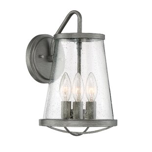 Compare Regan 3-Light Outdoor Sconce By Beachcrest Home