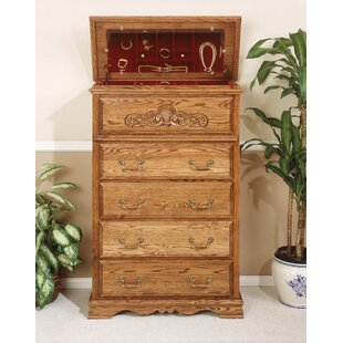 Lucie 5 Drawer Safe Top Chest