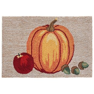 Treport Pumpkin Hand-Tufted Brown/Orange Indoor/Outdoor Area Rug