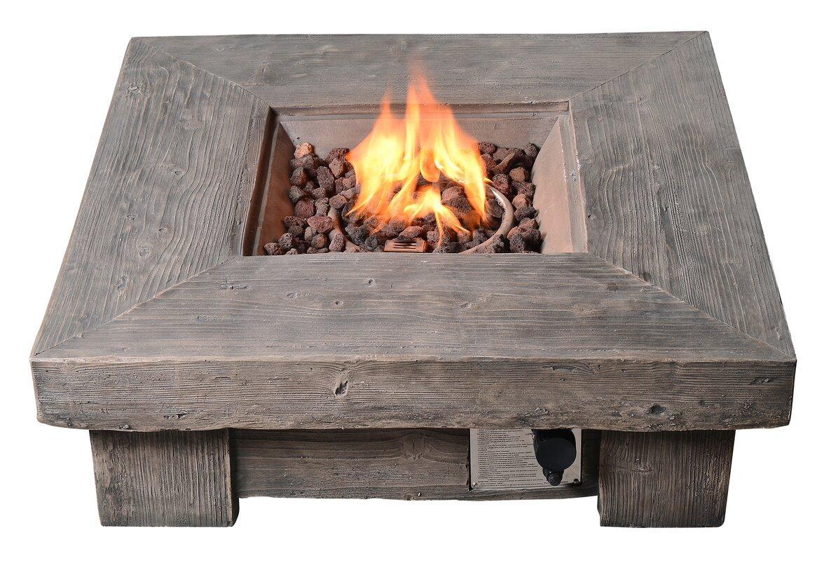 peaktop retro outdoor propane gas fire pit u0026 reviews wayfair