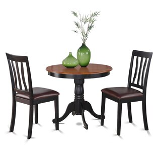 Appleridge 3 Piece Dining Set by Three Posts
