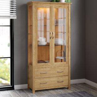 Marley Solid Oak Display Cabinet By Gracie Oaks