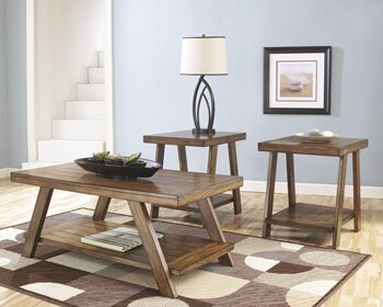 loon peak carlos 3 piece coffee table set & reviews | wayfair