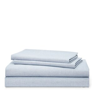 Graydon Melange 212 Thread Count 100% Cotton Sheet Set
