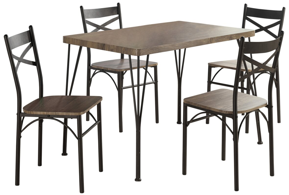 industrial style outdoor furniture. Sagers 5 Piece Industrial Style Dining Set Outdoor Furniture
