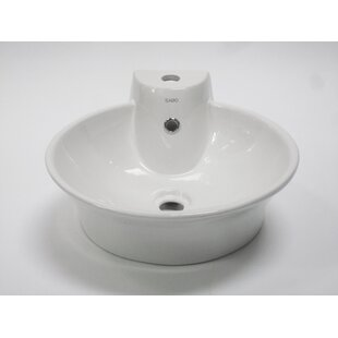 Bargain Above Mount Circular Vessel Bathroom Sink with Overflow By EAGO