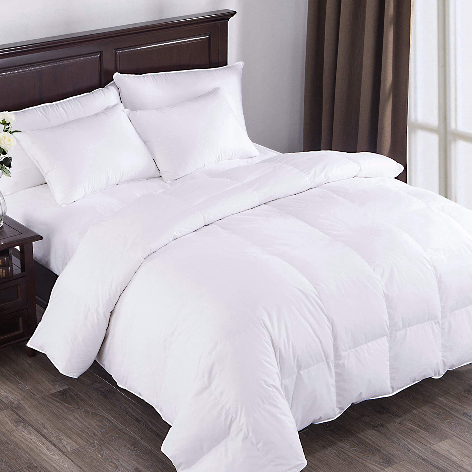 power pd down white count fill premium thread comforter goose puredown heavy products