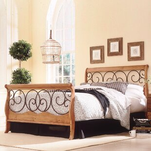 Fashion Bed Group Wood and Metal Sleigh Bed