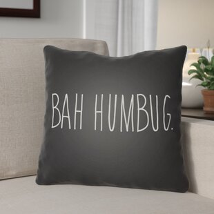 Bah Humbug Indoor/Outdoor Throw Pillow