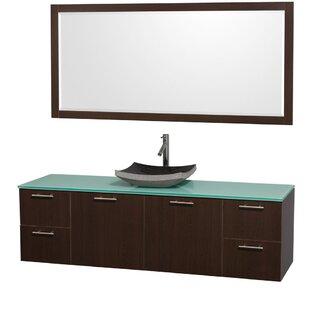 Deals Amare 72 Single Espresso Bathroom Vanity Set with Mirror ByWyndham Collection