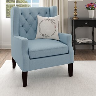 Favorite Light Blue Wingback Chair | Wayfair PM47