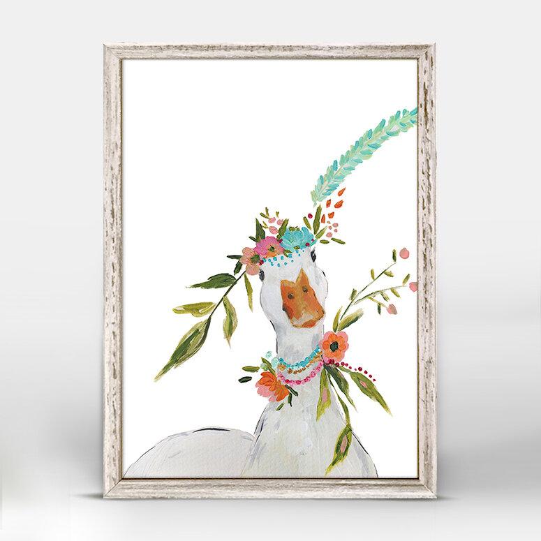 Trinx Casey Boho Duck Mini Canvas Art Wayfair