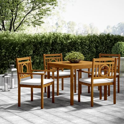 Caruthersville 5 Piece Dining Set With Cushions by Greyleigh Looking for