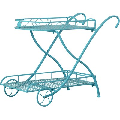 Pipkin Coat Metal Bar Cart by August Grove