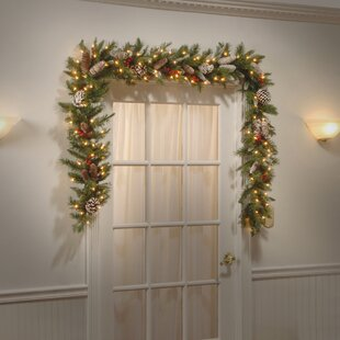 Green Garland With 100 Clear Lights
