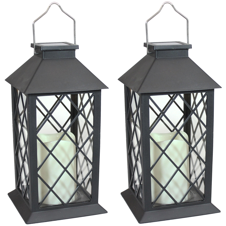 """Gravitt 8"""" Solar Powered Integrated LED Outdoor Lantern"""