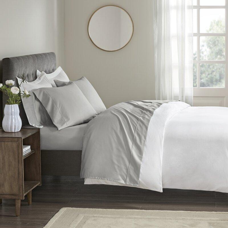 Beautyrest Wrinkle Resistant 400 Thread Count 100 Cotton Sheet Set Reviews Wayfair