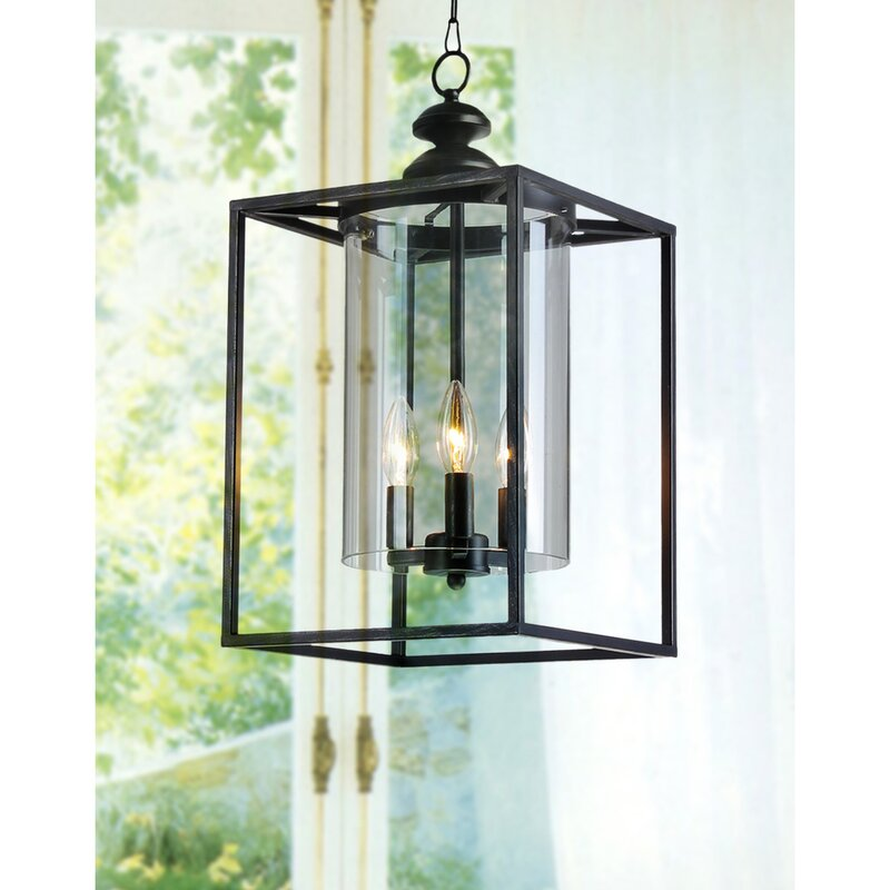 Didmarton 3-Light Foyer Pendant #lantern #pendantlight #farmhousestyle