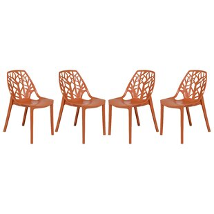 Kimonte Stacking Patio Dining Chair (Set of 4) by Ivy Bronx